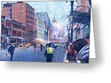 Boston Marathon Angels Greeting Card