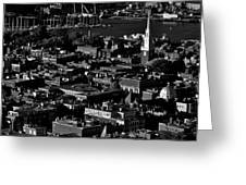 Boston Old North Church Black And White Greeting Card