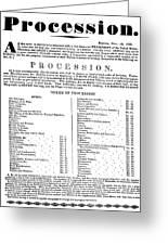 Boston Procession, 1789 Greeting Card