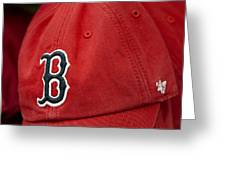 Boston Red Sox Baseball Cap Greeting Card