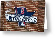 Boston Red Sox World Champions Greeting Card