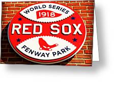 Boston Red Sox World Series Champions 1918 Greeting Card by Stephen Stookey