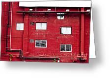 Boston Red Wall Greeting Card