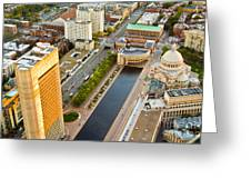 Boston Rooftops Greeting Card