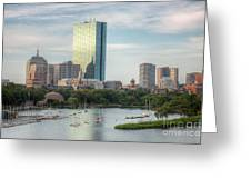 Boston Skyline I Greeting Card