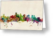 Boston Skyline Greeting Card by Michael Tompsett