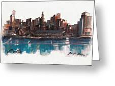 Boston Skyline  Number 1 Greeting Card