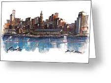 Boston Skyline  Number 3 Greeting Card
