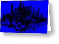 Boston Skyline Paint Splash 2 Greeting Card