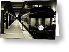 Boston South Station Old Train Greeting Card
