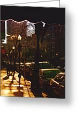 Brisk Walk On Hanover Street - Boston Greeting Card