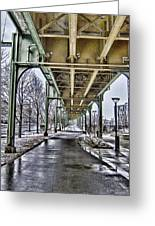 Boston Streetcar Overpass-cambridge V2 Greeting Card