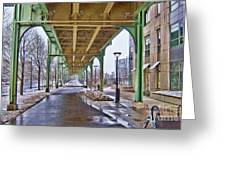 Boston Streetcar Overpass Greeting Card