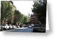 Boston Streetscene  Greeting Card