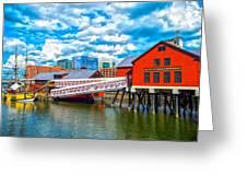 Boston Tea Party Museum Greeting Card