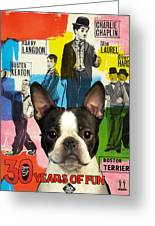 Boston Terrier Art - 30 Years Of Fun Movie Poster Greeting Card