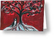 Boston Terrier Tree Love Greeting Card