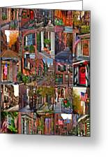 Boston Tourism Collage Greeting Card