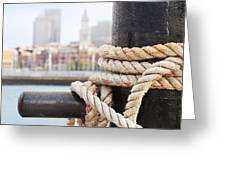 Boston Waterfront From Charlestown Greeting Card