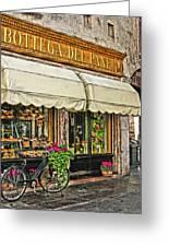 Bottega Del Pane Italian Bakery And Bicycle Greeting Card