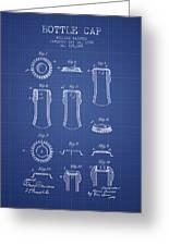 Bottle Cap Patent 1899- Blueprint Greeting Card