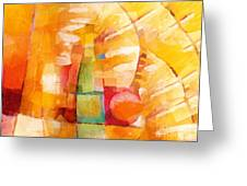 Bottle Cubic Greeting Card