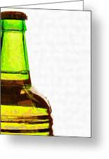Bottle Neck Against White Painting Greeting Card