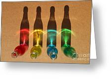 Bottle Shadows Greeting Card
