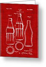 Bottle Support Patent Drawing From 1937 3 Greeting Card
