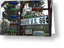 Bottle Trees Route 66 Greeting Card