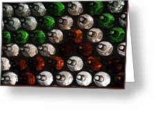 Bottle Wall Greeting Card