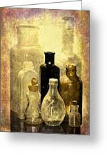 Bottles From The Past Greeting Card