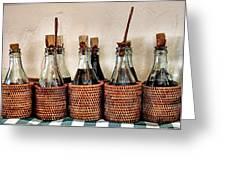 Bottles In Baskets Greeting Card