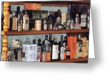 Bottles In General Store Greeting Card