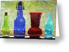 Da142 Bottles Of Time Daniel Adams Greeting Card