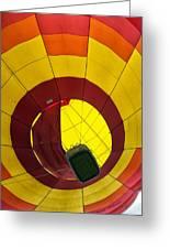Bottoms Up Hot Air Balloon Greeting Card