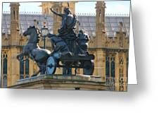 Boudicca Statue And Parliament 5805 Greeting Card