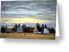 Boudin's The Beach At Villerville Greeting Card