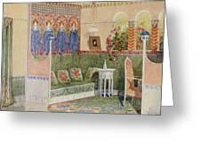 Boudoir, From A Villa In Helsinki Greeting Card