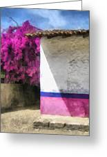 Bougainvillea - Art By Ann Powell Greeting Card
