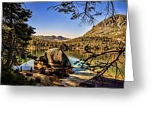 Boulder At Fallen Leaf Lake Greeting Card