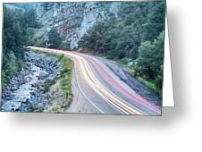Boulder Canyon Drive And Commute Greeting Card