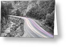 Boulder Canyon Drive And Selective Commute  Greeting Card