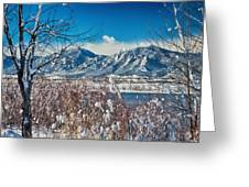 Boulder Colorado Winter Season Scenic View Greeting Card