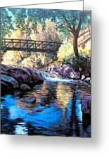 Boulder Creek Bridge Greeting Card