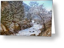 Boulder Creek Winter Wonderland Greeting Card