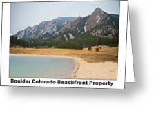 Boulder Flatirons Beachfront Property Poster White Greeting Card