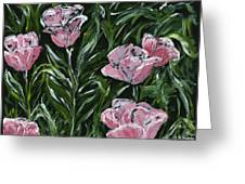 Boulder Tulips Greeting Card
