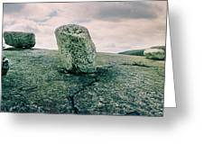 Boulders Along The Gertrudes Nose Greeting Card