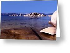 Boulders At The Coast, Lake Tahoe Greeting Card